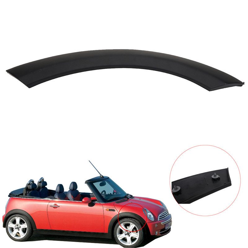 Back Left//Front Left//Front Right//Back Right Wheel Upper Fenders Arch Cover Trim for MINI Cooper Wheel Arch Trim Hood Moulding Wheel Arch Trim Splash Guards Replacement