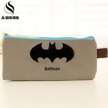 Batman Pencil Case Superman Hero Series Pencil Bag Captain America Stationery Pen Case for Boys Girls School Supplies BD854(China)