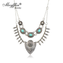 Gold/Silver Statement Necklaces & Pendants for Women Kolye Fashion Choker Necklace Pattern Collier Jewelry Collares