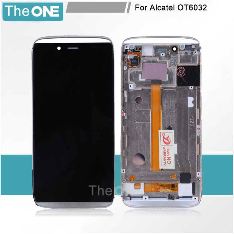 For Alcatel One Touch Idol Alpha 6032 OT6032 LCD Display Touch Screen Digitizer Assembly 6032A 6032X with Frame<br>