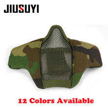 New Airsoft Half Lower Face Metal Steel Net Mesh Mask Tactical Military Army Wargame Shooting BB Gun Protective Halloween Party(China)
