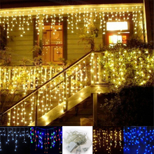 4m *96 Led Christmas lights outdoor garland led icicle curtain String light Fairy holiday home wedding decoration 220V/110V