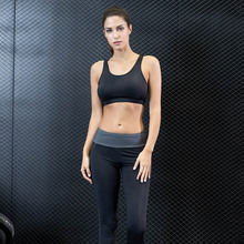 2017 Women Yoga Set Tops Vest Clothing Running Gym Sport Pants Suit Yoga Bra Girls Elastic Shorts Workout Sports Wear