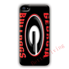 Georgia Bulldogs Embossed Blk fashion cell phone case cover for iphone iphone 4 4s 5 5s 5c SE 6 6s plus 7 plus #X331