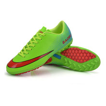 Professional Men's Kids Soccer Indoor Shoes TF Turf Soccer Cleats Football Trainers Sports Shoes All Size EU 33--44