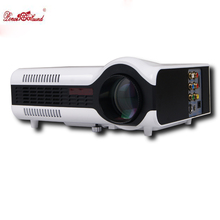 Amazing price Poner Saund Projector 2200lumens HD Portable Multimedia 3D LED LCD Mini TV proektor proyector for home theater pc