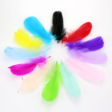 New! Wholesale Bloodfang color 100 pcs quality natural goose feathers, 5-7inches / 13-18cm DIY jewelry decoration13 Colors