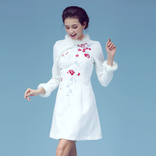 6155 # MoZhu dye in the autumn New winter Cultivate morality dress embroidered MAO restoring ancient ways