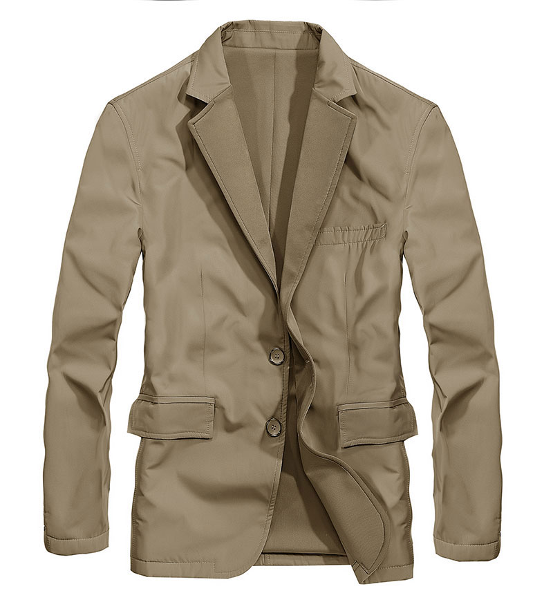 2017 New Arrival Brand Clothing Men Jacket M~3XL Overcoat Slim Fit Casual Blazer Jacket Coats CLOTHES Long Sleeve Solid Color (2)