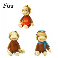"12"" Curious George Plush Doll Boots Monkey Plush Stuffed Animal Toys For Baby Girls WJ125"