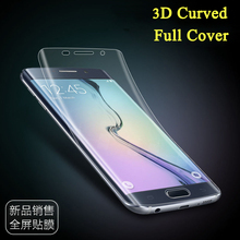 3D Curved Clear 2pcs /set front + back Soft PET Full cover screen protector film For Samsung Galaxy S6 edge plus S7 edge S8 Plus
