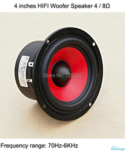 4 inches HIFI Woofer Speaker 4ohms 8 Ohms 2.1 2.0 Subwoofer Bass Powerful Speaker DIY(China)