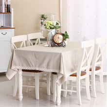 Solid Color Simple Linen Tablecloth High Quality Japan Stlye Table Cloth for Restaurant Free Shipping