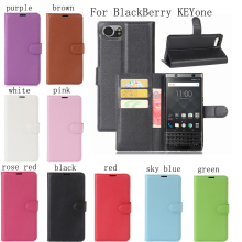 PIERVES high quality 9 colors PU skin Mobile Phone leather case For BlackBerry KEYone Bag Case Cover Shield Shell(China)