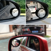 2pcs Car Rearview Mirrors 360 Degree Car Blind Spot Rear View Exterior Auto Accessories Mirror Covers Wide Angle Round Convex