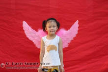 Baby'Special Birthday Childrens Day gift fairy angel feather wings Flower girl unique props Wholesale Free shipping(China)