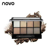 NOVO Eye Shadow 8color Art Mineral Magic Eye Shadow Palette Pearl Light Matte Powder Delicate Sticky Paste Easy To Color Lasting(China)