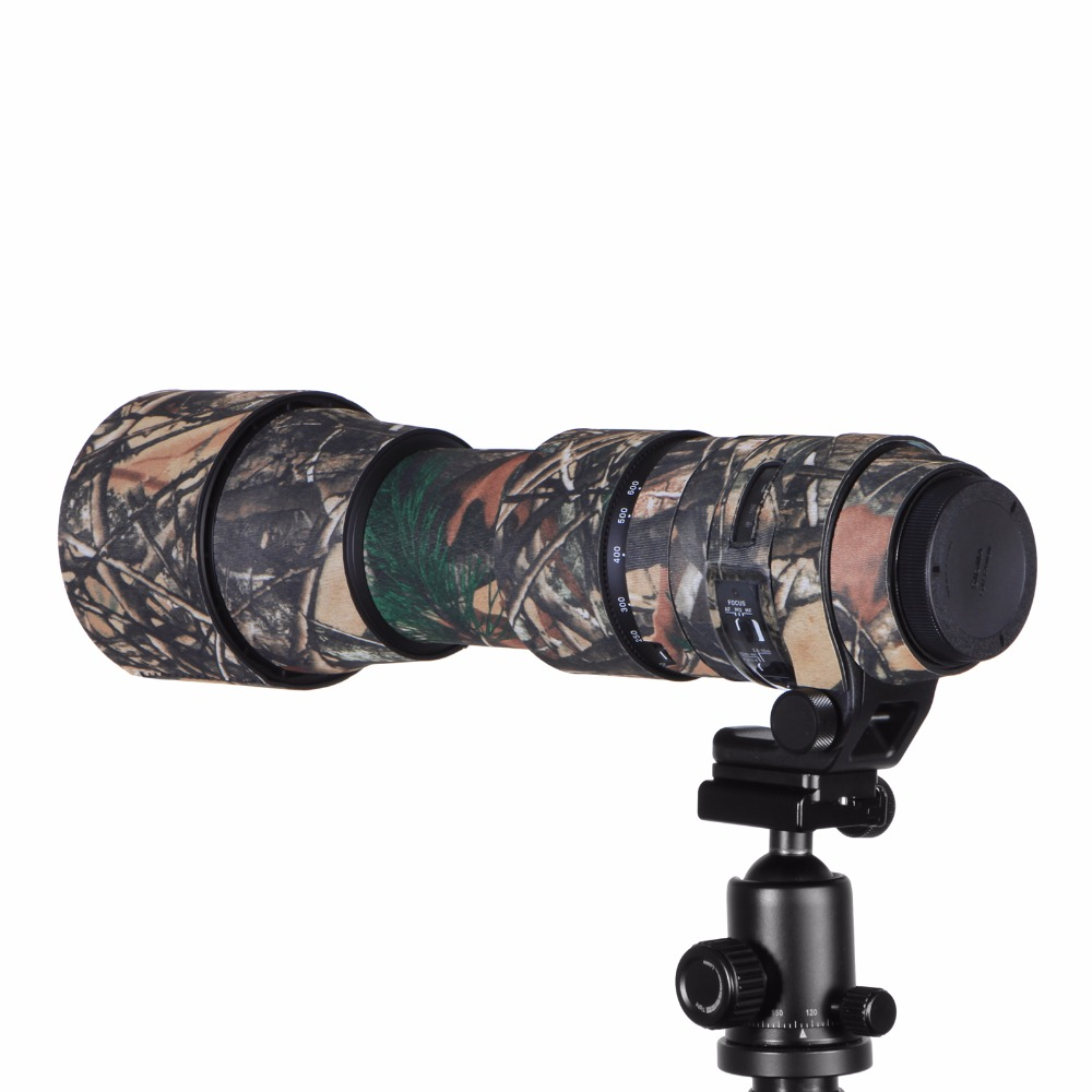 Contemporary Rubber Camouflage Neoprene Lens Coat Waterproof Lens Protective Coat Cover Camo Case For Sigma 150-600mm C version (11)