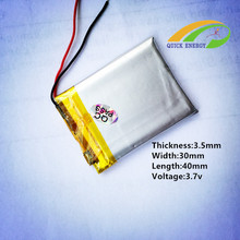 Promotional offers 3.7V rechargeable lithium polymer battery 353040 MP3 PSP navigation eBooks battery CL