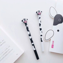 Z18 2pcs/lot Cute Kawaii Cow Silicone Gel Pen Stationery School Office Supply Writing Signing Pen Student Kids Gift(China)