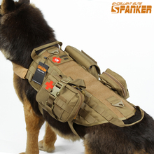SPANKER Army Military Dog Training Vest Tactival Dog Clothes Suit Outdoor Nylon Clothes For Servise Dog For Pet Dog Hot Sale