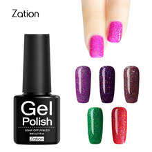 Zation Hot Sale Professional 8ml Lucky Colorful Neon Nail Gel UV Permanent Cheap Gel Base Coat Enamel Gel Led Nail Tools