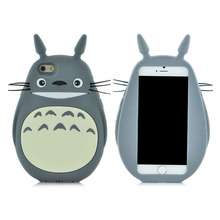 New style 3D Cartoon Totoro cat soft silicon cute cover back phone case For Iphone 4S 5 5S SE 6 6S / Plus Lovely TPU Shell Cases