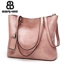 Best Special Offer New Bucket Quality Leather Women Handbags 2017 Brand Tote Bag Simple Top-handle Famous Designer Totes Black