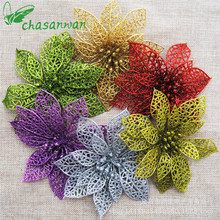 Wholesale 50Pc Artificial Flower Christmas Tree New Year Christmas Decorations for Home Christmas Decoration Enfeites De Natal.Q