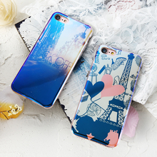 KISSCASE Phone Case For iPhone 8 7 6S Plus 5s SE Case Transparent Soft TPU Blue-ray Glaze Color Flower Phone Case For iPhone 7 8