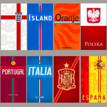 England Holland Poland Portugal Spain National team towels sports compact beach soccer football fans towel(China)