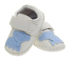White Black Girl Boy Baby Leather Shoes Warm Baby Moccasins Cartoon Elephant Monkey Toddler First Walkers Rubber Bottom Sneakers
