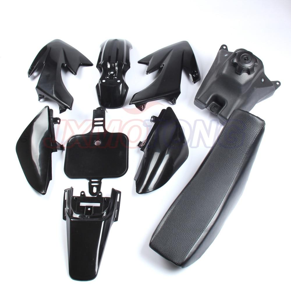 Plastic Body Fenders Kit+Tall Flat Seat For Honda CRF50 Pit Dirt Bike Motorcycle