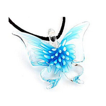 Fashion Necklaces For Women 2015 Pure Manual Colorful Glass Bird/Duck/Butterfly Necklace Charming Jewelry Accessories Party(China)