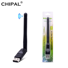 CHIPAL 150 Mbps Ralink RT5370 Wireless Network Card Mini USB 2.0 WiFi 어댑터 안테나 PC LAN Wi-Receiver 동글 802.11 b/g/n(China)
