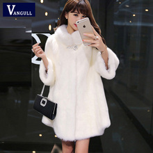 New thick winter jacket warm imitation fur coat high-quality imitation fox Faux Fur coat large size women Overcoat(China)