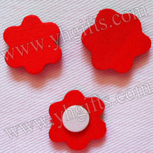 1000PCS/LOT.RED Wood flower sponge stickers,Fridge stickers,Home decoration,Wood crafts,Wedding oranments,DIY crafts,18mm.