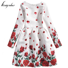 keaiyouhuo 2017 Winter Girls Dress For Girls Princess Party Dresses School Wear Kids Wedding Dress Children Clothes 9 10 12 Year