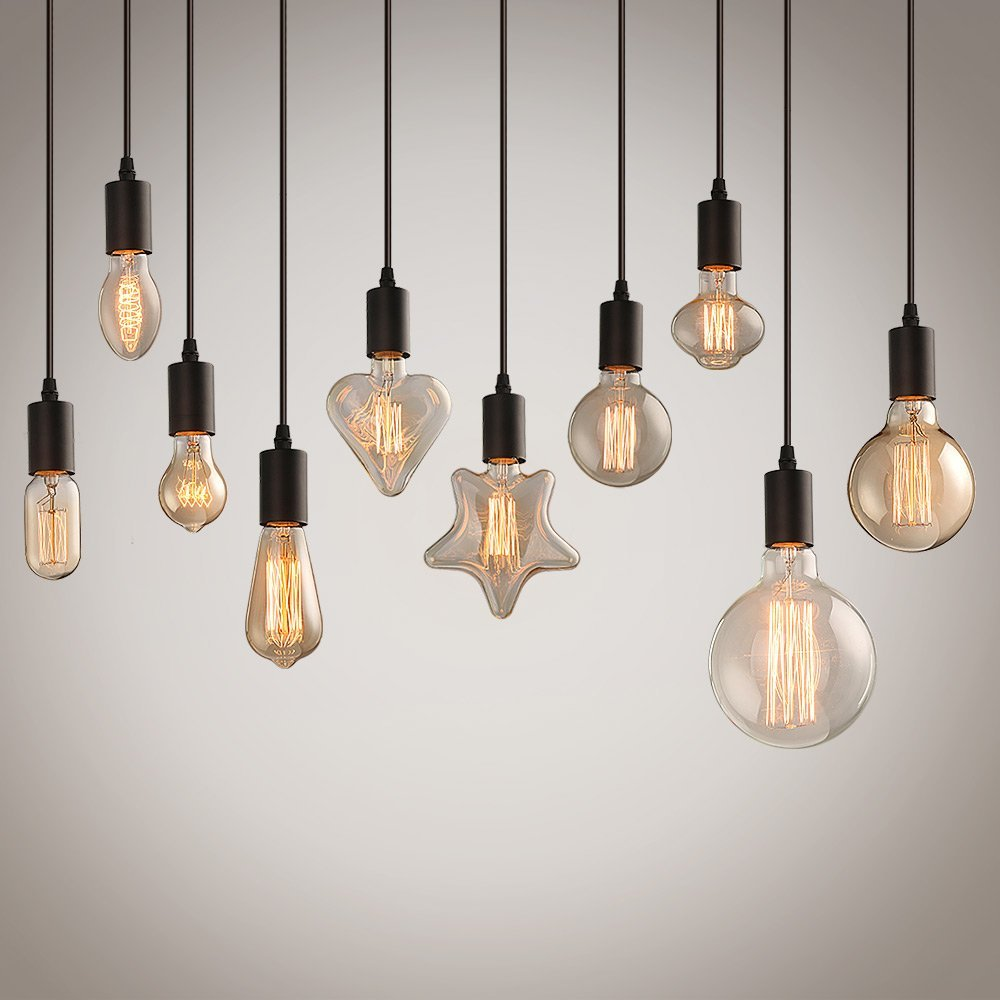 Compre Loft Vintage Hanglamp Lámparas Colgantes Negro Lámparas ...