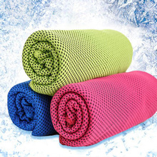 Ice towel fashion simple decorative towel cold silk scarf down ice towel cold sense of sports ice towel
