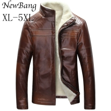 Buy 5XL 4XL Fashion Men Winter Leather Jacket Brown Leather Jacket Big Size Faux Fur Lined Coats Winter Faux Leather Jacket 4 Colors for $74.99 in AliExpress store