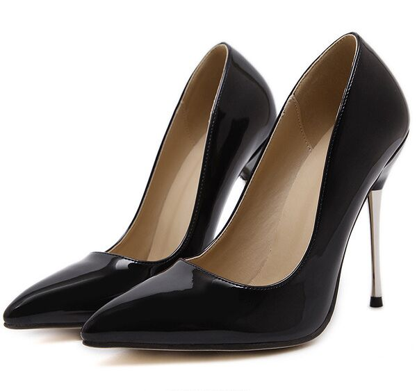 Size 4~9 Office Nude Women Shoes 2017 Commuter Black High Heels Shoes Autumn Women Pumps zapatos mujer (Chenk Foot Length)<br><br>Aliexpress