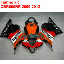 Injection molding HOT Fairing kit for HONDA cbr600rr 2009 2010 2011 2012 CBR 600 RR 09-12 black orange REPSOL fairings set LK31