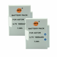 DSTE 2PCS ABT2W Rechargeable Battery for Ultra Flip Video HD 8GB 4GB Digital Camera(China)