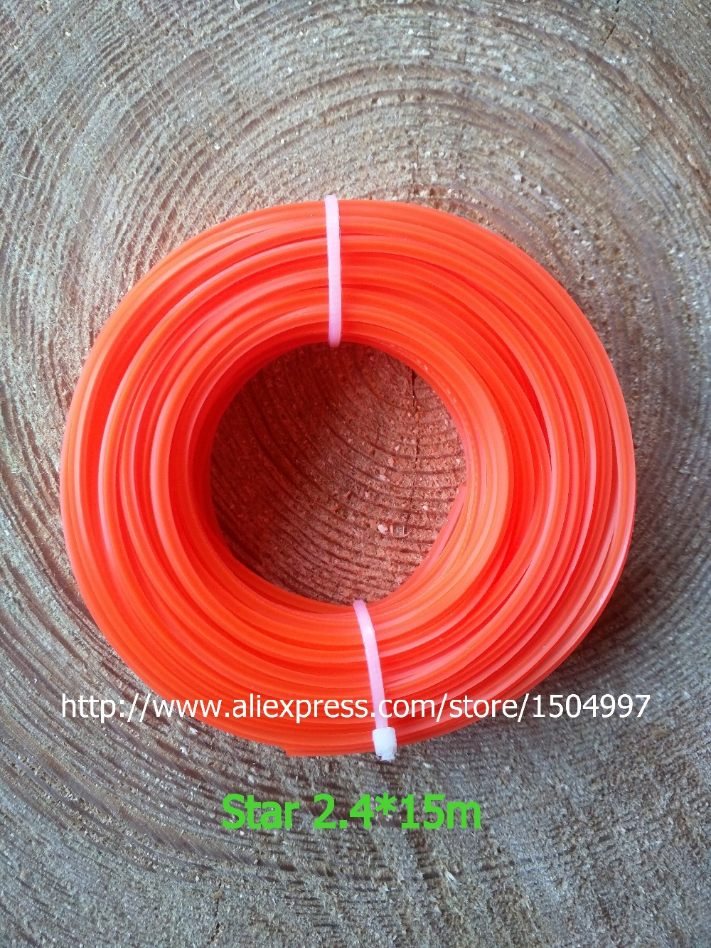diameter 2.4mm x 15 metres Spool Strimmer Cord Line Wire String Nylon Star  Petrol TRIMMER HEAVY DUTY<br><br>Aliexpress