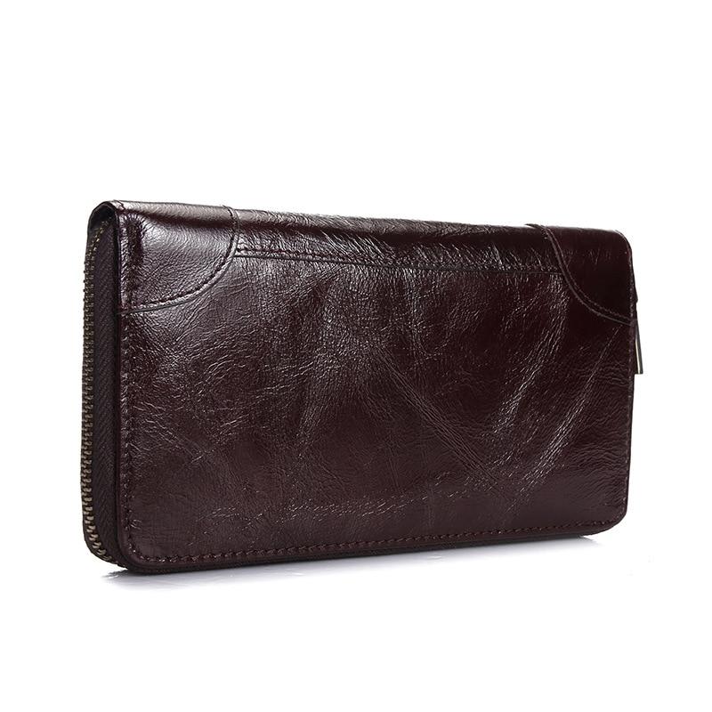 Hot 2017 New Designed Brand Long Genuine Leather Wallets Business Men Clutch Bag Casual Multi Slot Purses Card Holder Hand Bag<br><br>Aliexpress