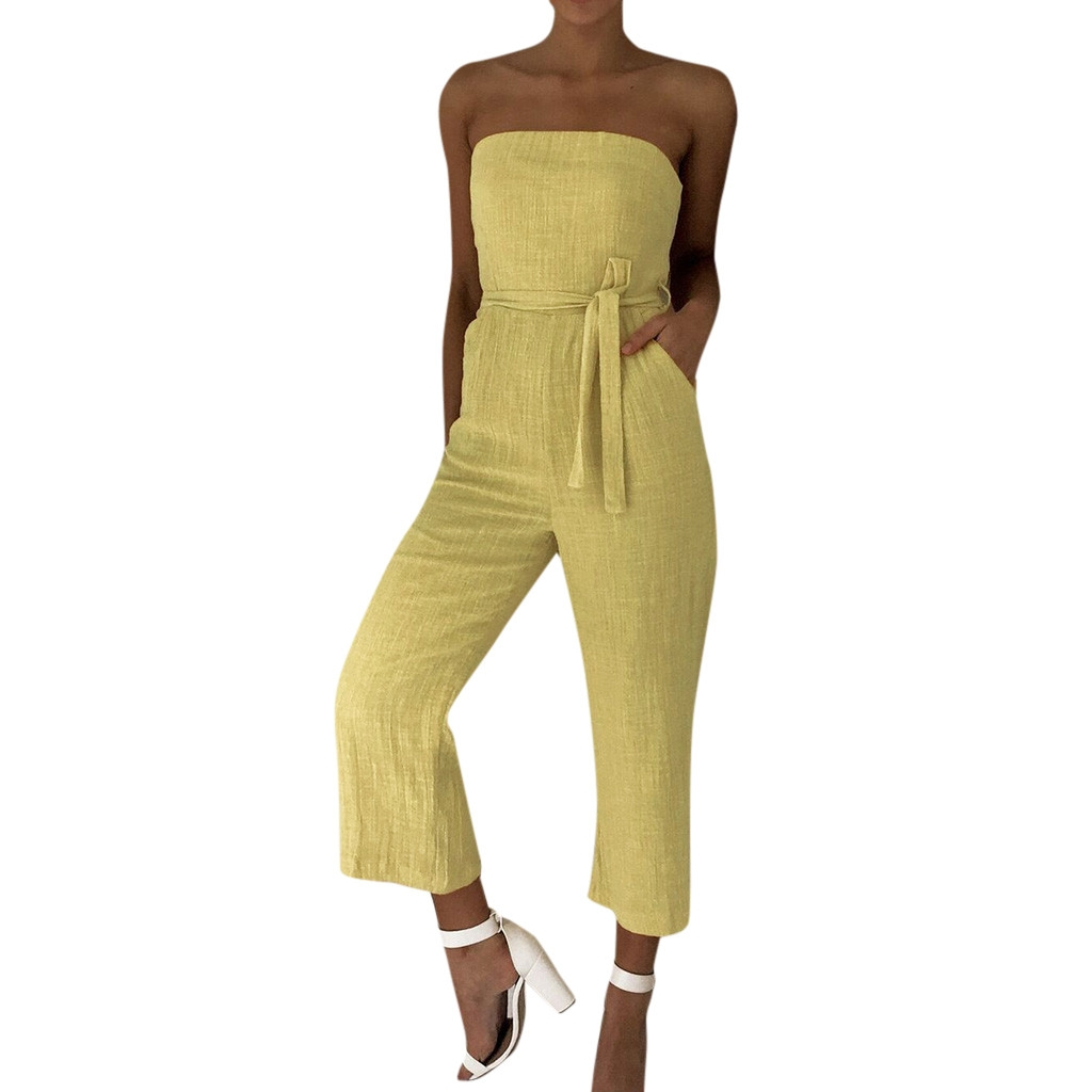 JAYCOSIN  2019 Women Off Shoulder Jumpsuit Holiday Playsuit Ladies Summer Beach Rompers   19JAN24