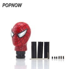 1set  Red Spider-man Style Car Truck Manual Shift Gear Stick Rod Lever Knob Resin Car Styling Decoration Accessories #3379