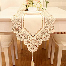 1PCS 40x150cm Waterproof Openwork Embroidery Pastoral Dining Table Cloth Trade Pastoral Coffee Textile TableCloth(China)
