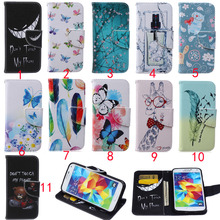 Amazing Case For Samsung Galaxy S5 i9600 Magnetic Flip Wallet Cover Case For Samsung S5 Phone Case With Card Holder New Listing